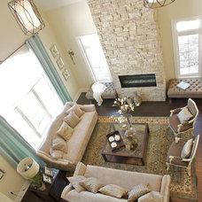 Traditional Family Room by Gordana Car Interior Design Studio