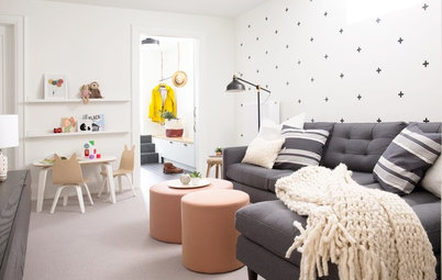 A Fresh, Fun Family Room With a Special Space for the Kids