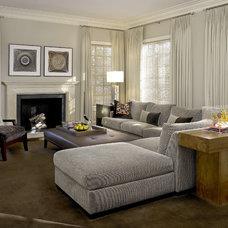Contemporary Family Room by Handman Associates