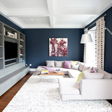 Contemporary Family Room by barlow reid design