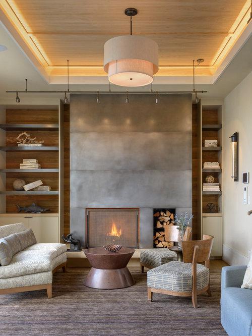 Sheet Metal Fireplace Surround Houzz