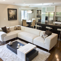 contemporary family room by Globus Builder