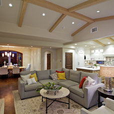 Mediterranean Family Room by Christian Rice Architects, Inc.