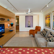Contemporary Family Room by Lapis Design Partners