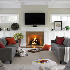 Traditional Family Room by Thomas Cochren Homes