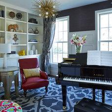Contemporary Family Room by Martha O'Hara Interiors