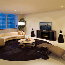 Contemporary Family Room by Electric Fireplaces Direct