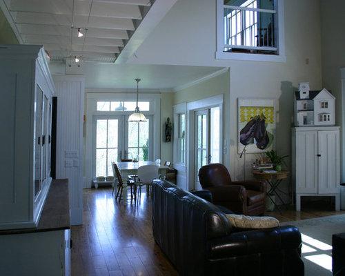 Save Gothic Revival Farmhouse Family Room