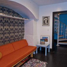 Eclectic Family Room by Marie Burgos Design
