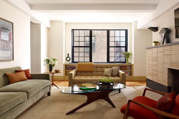 Contemporary Family Room by Robert Kaner Interior Design