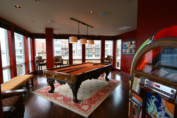 Eclectic Family Room by Gramophone