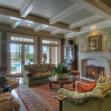 Traditional Family Room by J. Miller Interiors