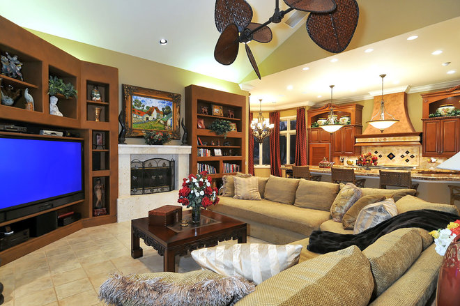Tropical Family Room by Bella Luna Services, Inc.