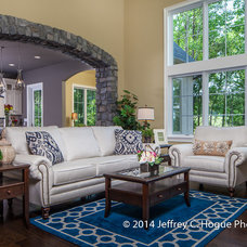Transitional Family Room by Turnberry Custom Homes