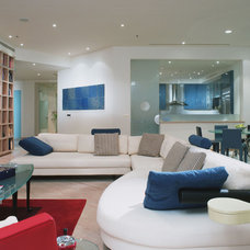 Contemporary Family Room by Jerry Jacobs Design, Inc.