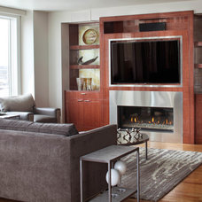 Contemporary Family Room by Angela Otten; WmOhs Showrooms Inc
