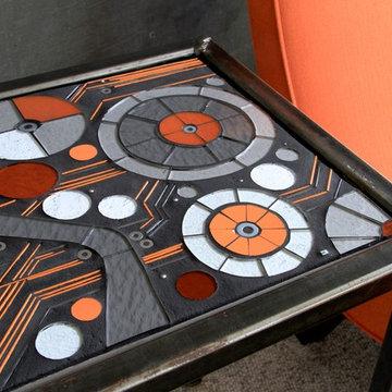 Graphic glass mosaic tabletop concept: Transform