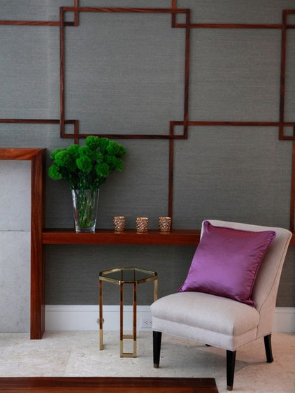 Contemporary Family Room by Robin Stanfield Designs