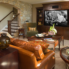 Contemporary Family Room by Alexander Design Group, Inc.