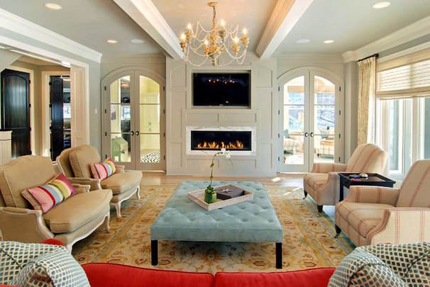 Eclectic Family Room by Great Neighborhood Homes