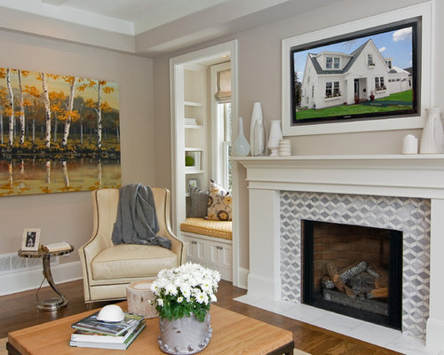 Tile Fireplace Surround Ideas | Houzz