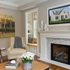 transitional family room by Great Neighborhood Homes
