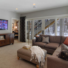 Contemporary Family Room by Great Neighborhood Homes