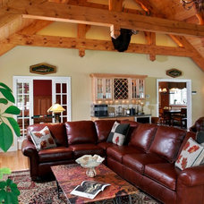 Traditional Family Room by Teakwood Builders, Inc.