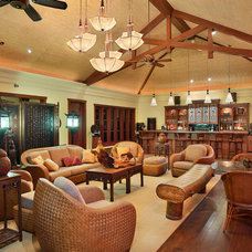 Asian Family Room by Architectural Design & Construction