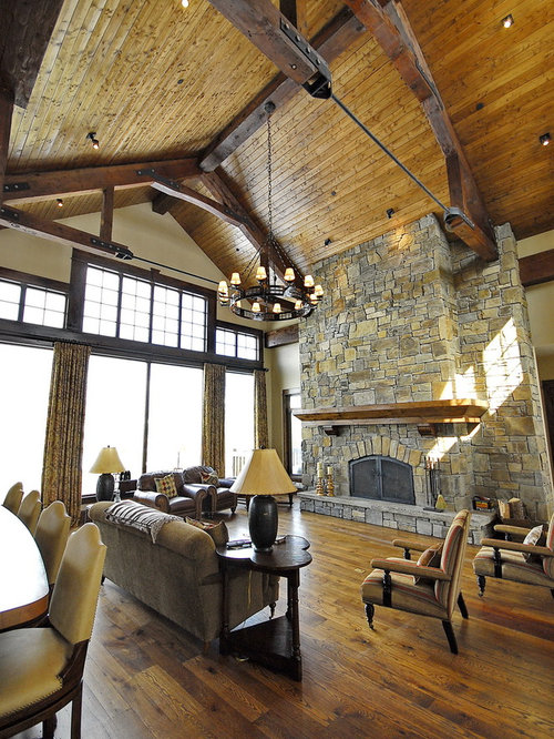 Floor To Ceiling Stone Fireplace Home Design Ideas