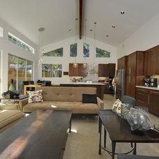 Modern Family Room by Barron Custom Design, LLC