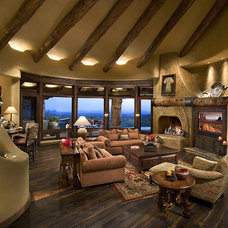Southwestern Family Room by Bess Jones Interiors