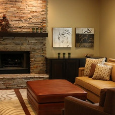 Contemporary Family Room by Brandy Ketterer Design Co.