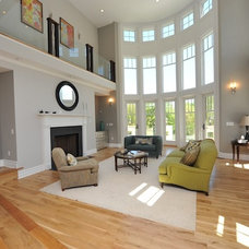 Contemporary Family Room by Carmel Developments Inc