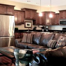 Contemporary Family Room by David Schaf Interiors, LLC