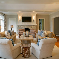 traditional family room by Design House