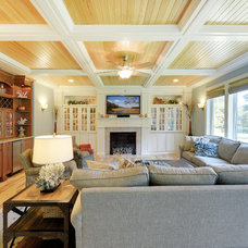 Traditional Family Room by Echelon Custom Homes