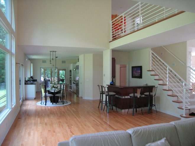 Contemporary Family Room Great Room