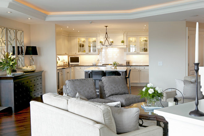 Contemporary Family Room by Jacqueline Glass and Associates