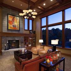 Modern Family Room by Joe Carrick Design - Custom Home Design
