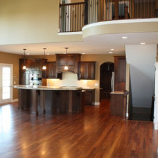 Traditional Family Room by BJ Armstrong Custom Homes