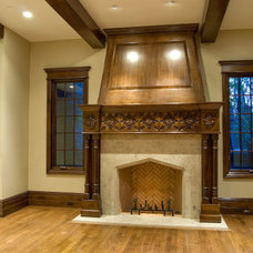 Traditional Family Room by Red Leaf Design