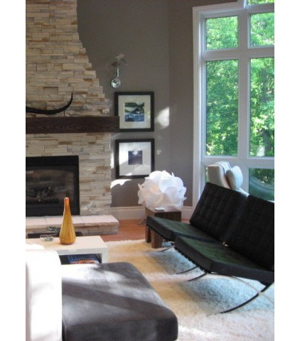Contemporary Family Room by NathalieTremblay - Atelier Cachet