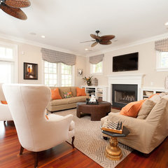 eclectic family room by Sandra Ericksen Design