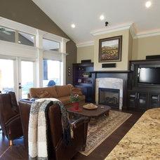 Traditional Family Room by Sonbuilt Custom Homes Ltd.