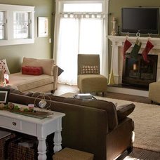 Craftsman Family Room by Susan Rudd Designs