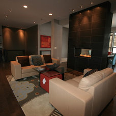 Contemporary Family Room by Taylor Design