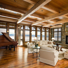 family room by Teton Heritage Builders