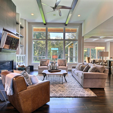 Great Room - The Aerius - Two Story Modern American Craftsman
