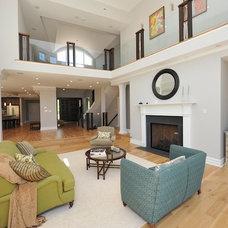 Contemporary Family Room by Carmel Developments Inc